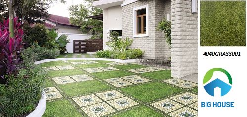 Gạch cỏ đồng tâm 2