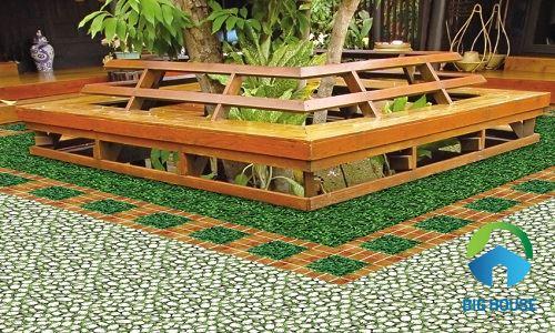 Gạch sân vườn Đồng Tâm 40x40 4040CLG001