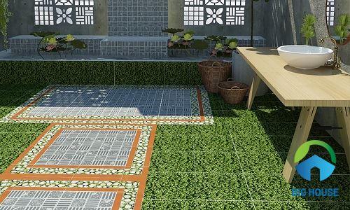 Gạch sân vườn Đồng Tâm 40x40 4040THESEA001