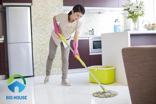 cách làm sạch gạch lát nền