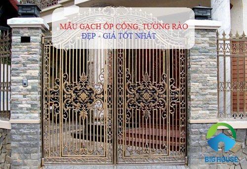 Các mẫu gạch ốp trụ cổng nhà đẹp, giá rẻ nhất cho các gia đình