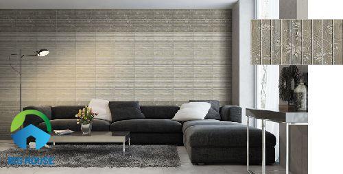 gạch ốp tường giả gỗ đồng tâm