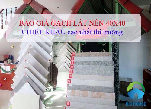 Bảng báo giá gạch lát nền 40×40 Đồng Tâm chiết khấu cao tại Big House