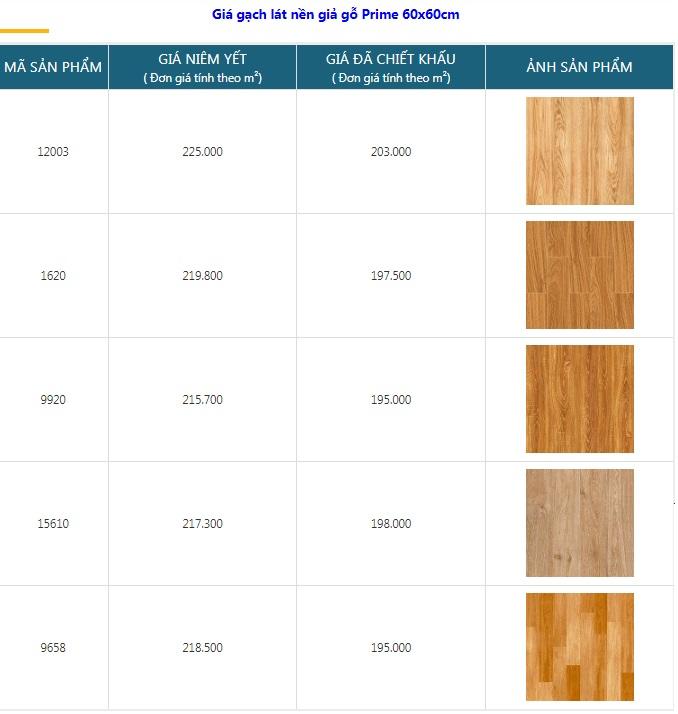 giá gạch giả gỗ