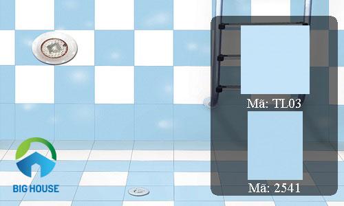 gạch lát nền màu xanh 1