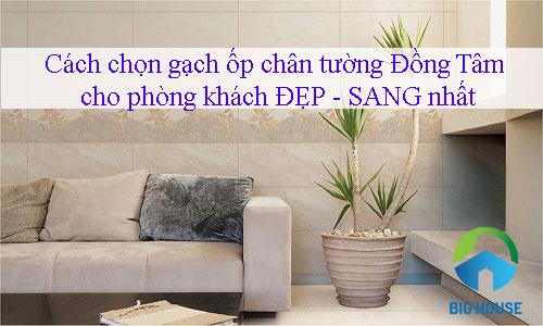 Cách chọn gạch ốp chân tường Đồng Tâm cho phòng khách ĐẸP – SANG nhất