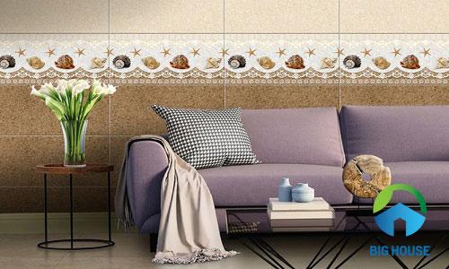 bảng giá gạch ốp tường phòng khách 1