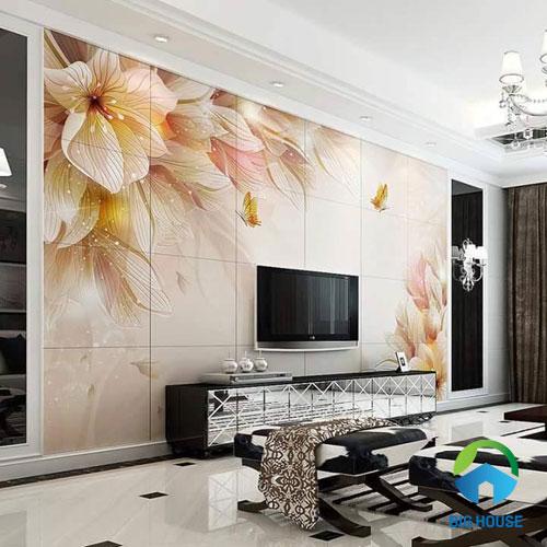 gạch ốp tường trang trí phòng khách 1