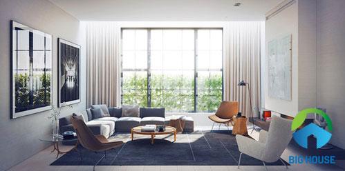 phối màu gạch ốp tường phòng khách 3