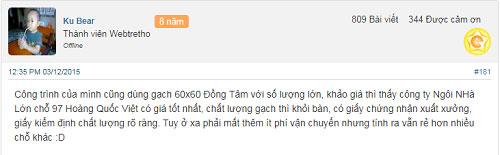 đại lý mua gạch Đồng Tâm 60x60