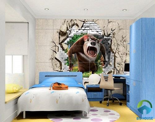 gạch ốp tường phòng ngủ 3D 1