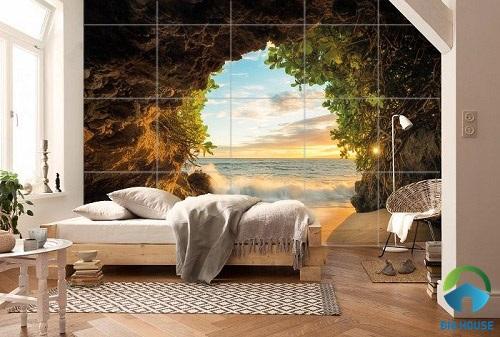 XEM NGAY: Các mẫu gạch ốp tường phòng ngủ 3D cho gia đình đẹp tuyệt vời