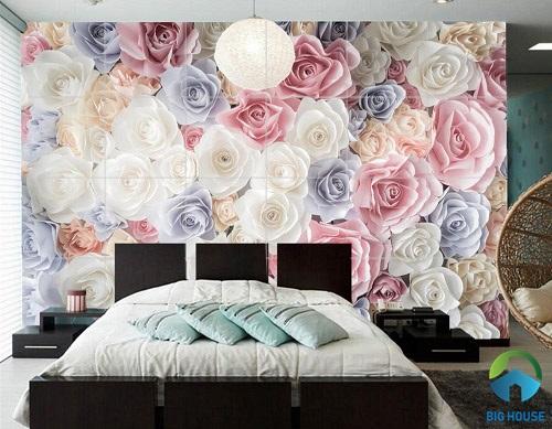 gạch ốp tường phòng ngủ 3D 13