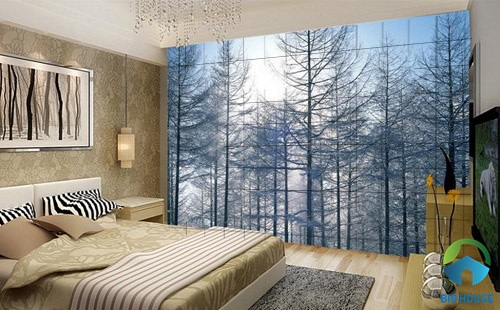 gạch ốp tường phòng ngủ 3D 14