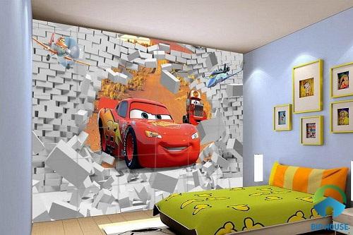 gạch ốp tường phòng ngủ 3D 3