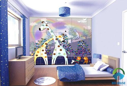 gạch ốp tường phòng ngủ 3D 6