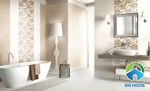 MẸO: Chọn gạch ốp nhà vệ sinh 30×60 men BÓNG, KHÔ hay NHÁM?