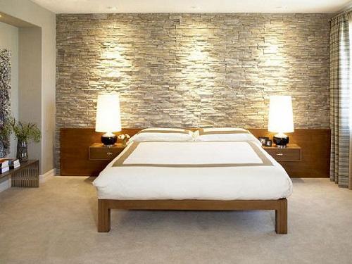 gạch ốp tường phòng ngủ 3d