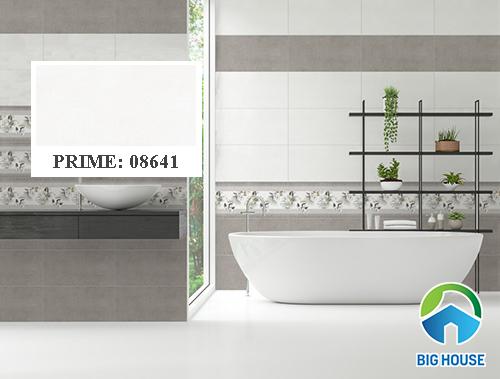 Gạch ốp tường nhà vệ sinh màu ghi Prime 08641