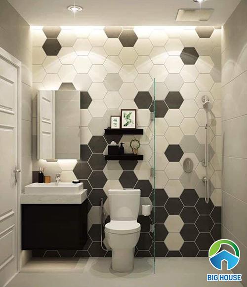 Gạch lục giác ốp tường nhà vệ sinh