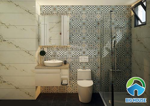 ốp gạch tường nhà vệ sinh