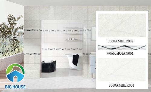 Gạch ốp tường nhà tắm theo bộ của Đồng Tâm