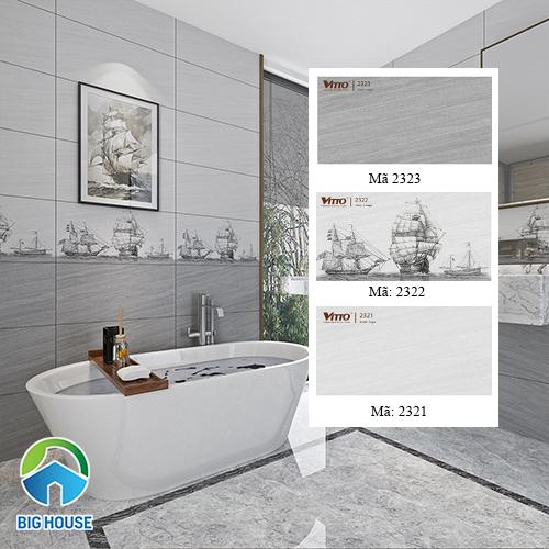 Bộ gạch Vitto ốp tường nhà tắm