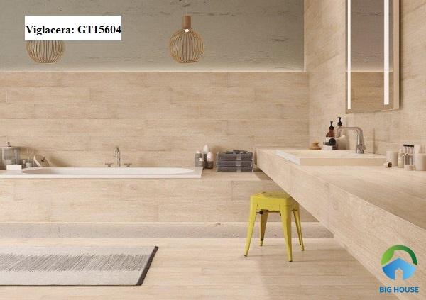 gạch giả gỗ giá bao nhiêu - Gạch giả gỗ Viglacera GT15604