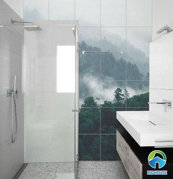 Bộ gạch 3D ốp tường nhà tắm