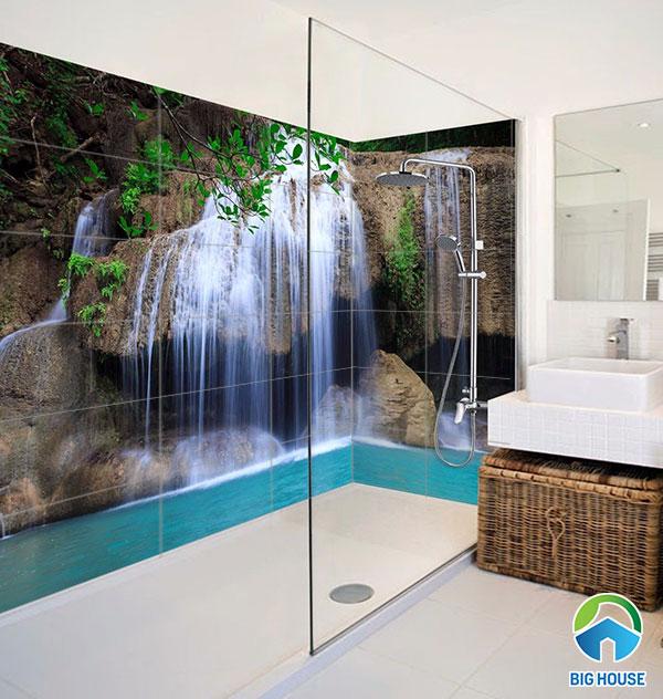 gạch tranh 3d ốp tường nhà tắm giá rẻ