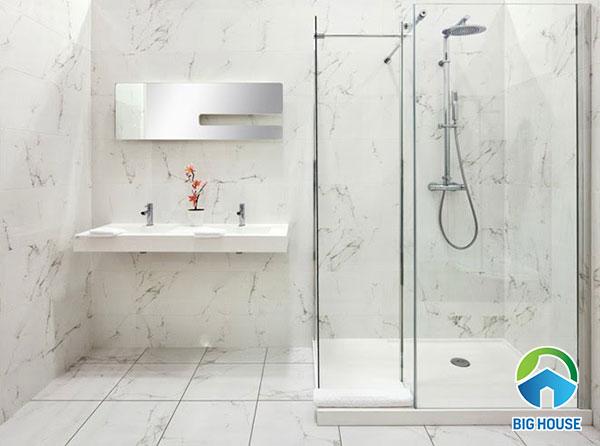 TOP 20 Mẫu gạch ốp nhà tắm vân đá SANG như khách sạn 5*