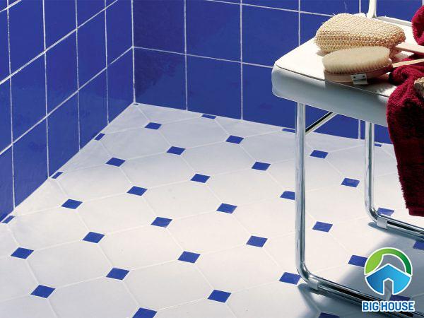gạch ốp nhà tắm màu xanh 10