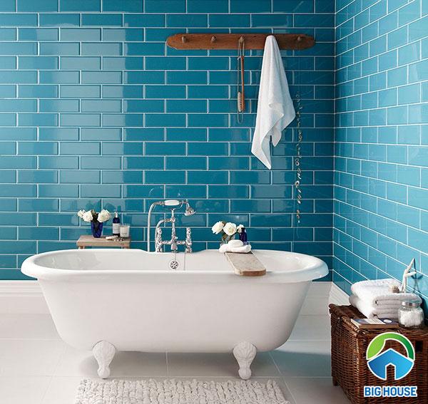 15 Mẫu gạch ốp nhà tắm màu xanh đáng sử dụng nhất 2021