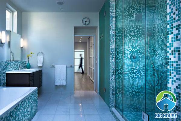 gạch ốp nhà tắm màu xanh 13