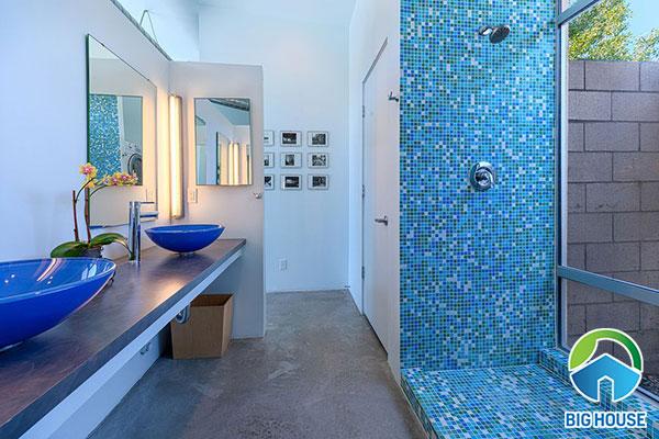 gạch ốp nhà tắm màu xanh 14