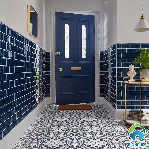 gạch ốp nhà tắm màu xanh 2