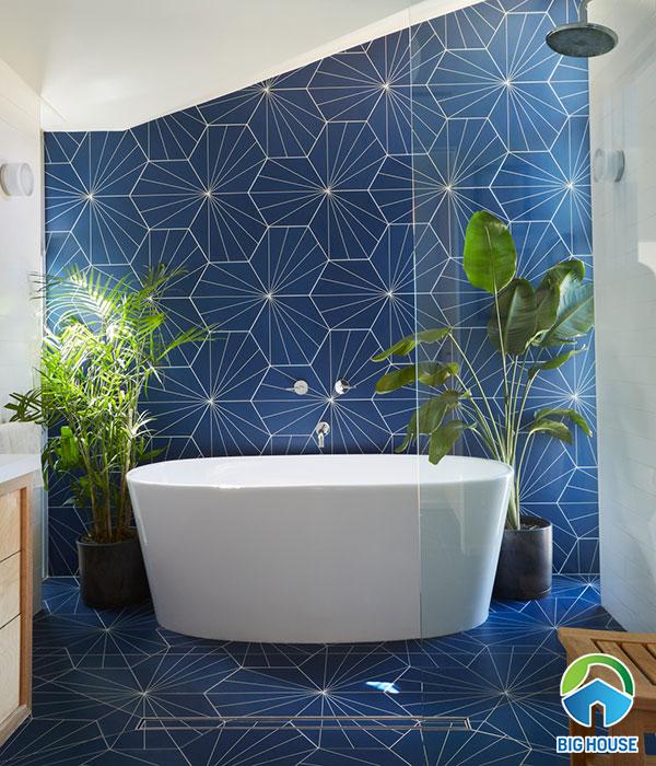 gạch ốp nhà tắm màu xanh 4