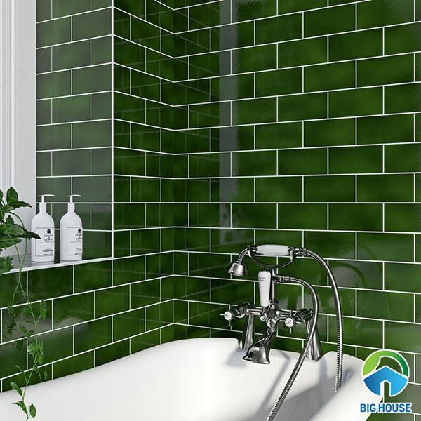 gạch ốp nhà tắm màu xanh 5