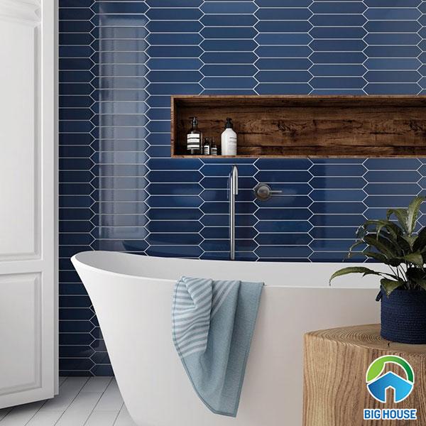 gạch ốp nhà tắm màu xanh 7