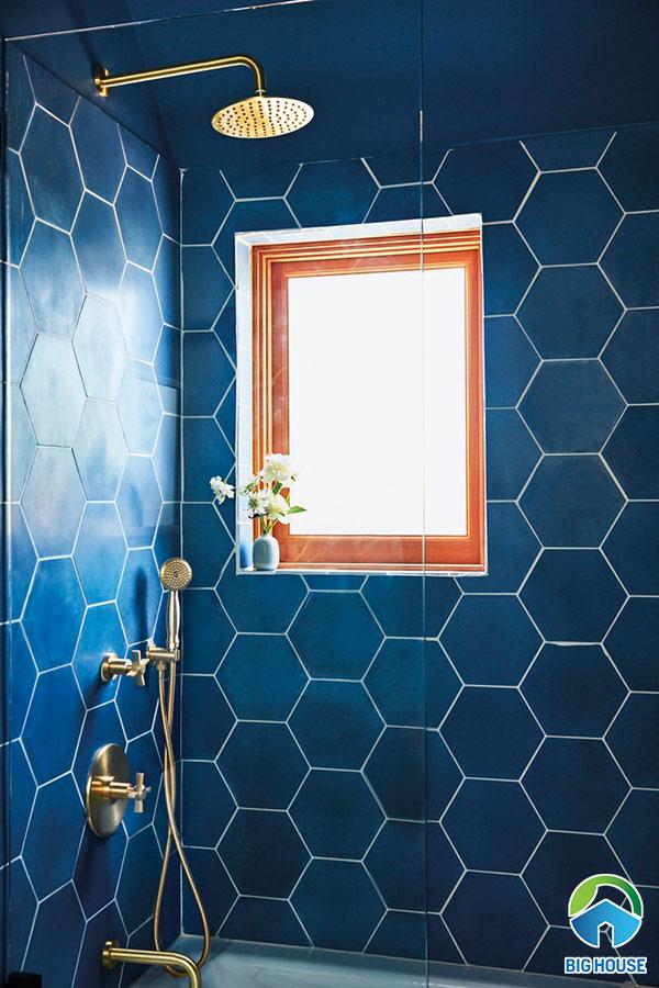 gạch ốp nhà tắm màu xanh 8