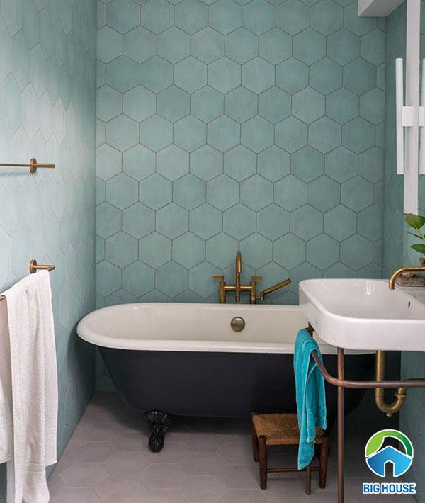 gạch ốp nhà tắm màu xanh 9