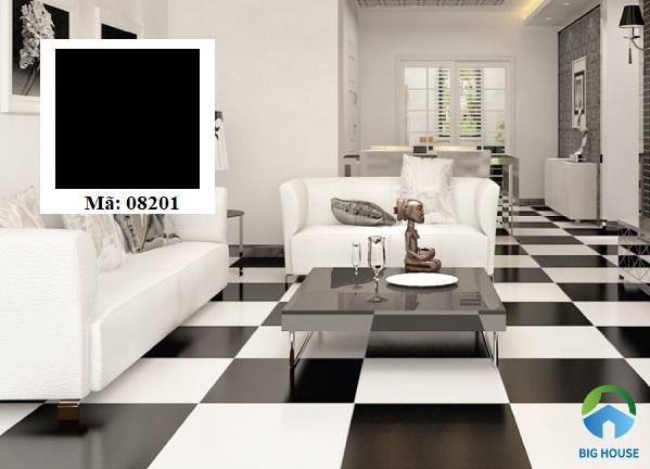 Gạch lát granite màu đen đơn sắc không họa tiết Prime 08201