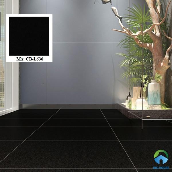 Gạch Viglacera CB-L636 có tông màu đen đậm