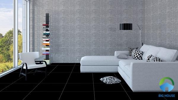 Tông màu đen - xám đem đến sự hài hòa cho không gian sở hữu