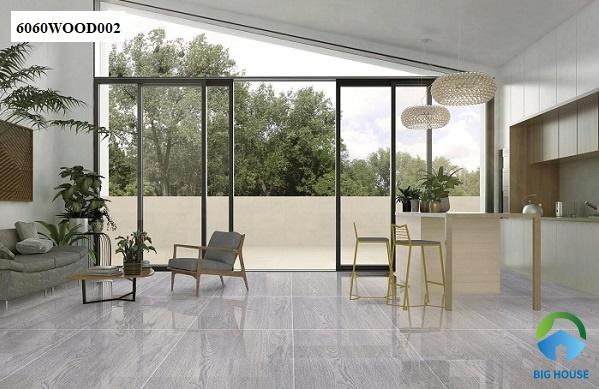 mẫu gạch vân gỗ granite 6060WOOD002 màu xám