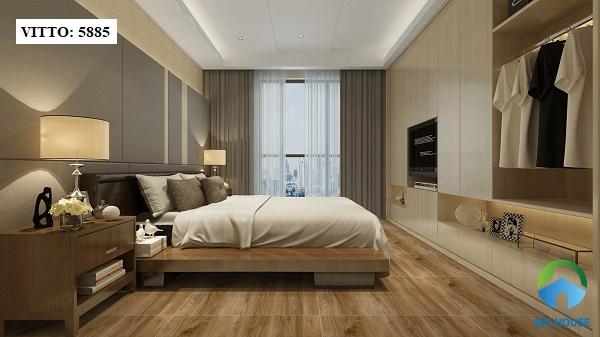Gạch Vitto 60x60 5885 có họa tiết vân gỗ tự nhiên