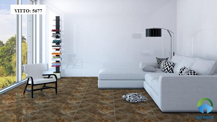 Gạch granite Vitto 5677 với họa tiết giả đá
